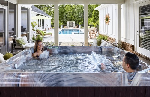 A prefect way to make the most of your backyard with Artesian's South Seas Spa line
