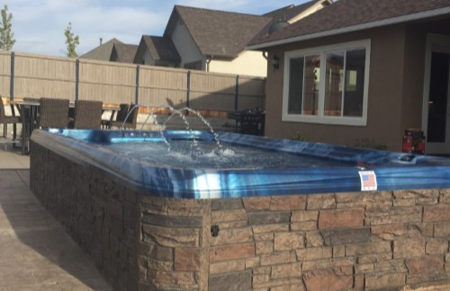 Our latest swim spa installation.