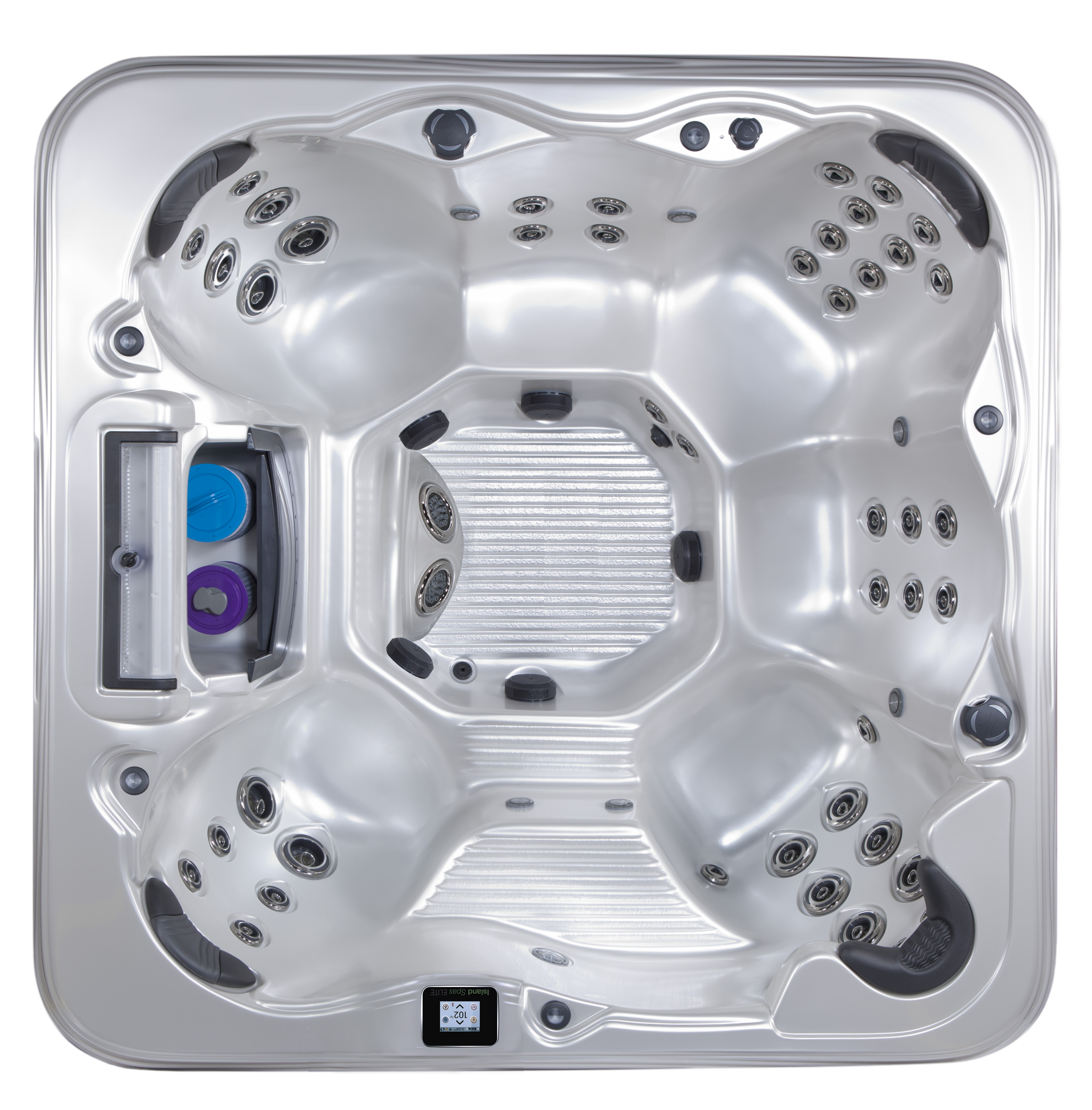 Captiva hot tub with 7 seats and up to 52 jets