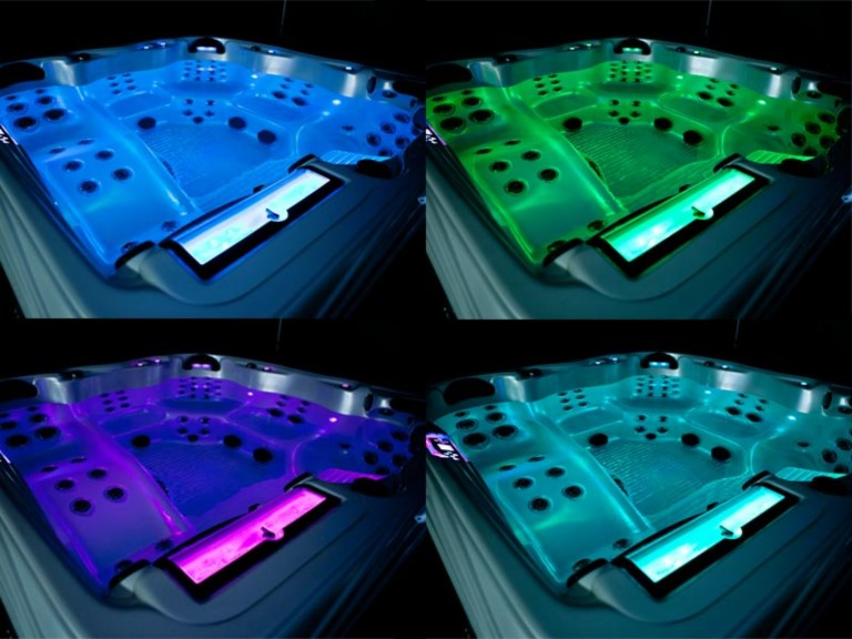 Hot Tubs with LED Lights shining bright
